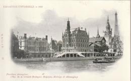 *** PARIS ** EXPOSITION UNIVERSELLE 1900   Pavillons Etrangeres Grande Bretagne Bélgique, Norvège  Précurseur Neuf LUXE - Mostre