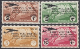 TRIPOLITANIA, COLONIA ITALIANA - 1934 - Serie Completa Di 4 Valori Nuovi MH: Yvert 39/42, Come Da Immagine. - Tripolitania