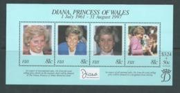 Fiji 1998 Princess Diana Memorial Miniature Sheet MNH - Fiji (1970-...)