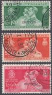 ERITREA, COLONIA ITALIANA - 1930 - Serie Completa Di 3 Valori Usati: Yvert 154/156, Come Da Immagine. - Erythrée