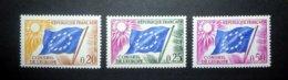 FRANCE SERVICE 1963 N°26 À 28 ** (CONSEIL DE L'EUROPE. DRAPEAU) - Ungebraucht
