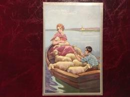 Joyeuse Pâques-bateau Moutons-Adolfo Busi-(my Ref AB1) - Busi, Adolfo