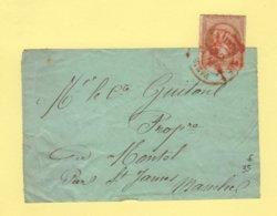 Obliteration Rouge Des Imprimes Sur N°13 - 1 Oct 1862 - Devant De Bande - Rare - 1849-1876: Classic Period