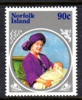 NORFOLK ISLAND - 1985 LIFE & TIMES OF QUEEN ELIZABETH THE QUEEN MOTHER 90c STAMP FINE MNH ** SG 367 - Norfolk Island