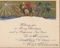 Christmas Card  Wishing You A Merry Christmas And A Prosperous New Year - Visiting Cards