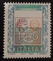 O) 2002 ITALY, ERROR, ITALIA WITH LARGE NUMERALS SC 2457 1.55 Euros- MNH - 6. 1946-.. Repubblica