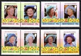 MONTSERRAT - 1985 LIFE & TIMES OF QUEEN ELIZABETH THE QUEEN MOTHER SET (8V) FINE MNH ** SG 636-643 - Montserrat