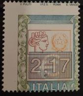 O) 2002 ITALY, ERROR, ITALIA WITH LARGE NUMERALS SC 2459 2.17 Euros- MNH - 6. 1946-.. Repubblica