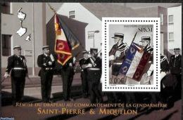 Saint Pierre Miquelon 2019 Gendarmerie (police) S/s, (Mint NH), Flags - Police - Polizei - Gendarmerie