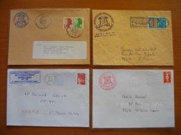 Réunion : Quatre Lettres (1981 à 1997) Avec En-têtes Différentsde L'APOI (Association Philatélique De L'Océan Indien). - Reunion Island (1852-1975)