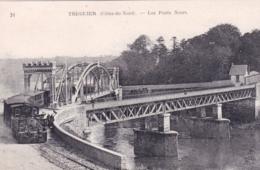 22 - Cotes D Armor - TREGUIER - Les Ponts Noirs - Train Vapeur Sur Le Pont - Tréguier