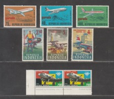 Indonesia 1967/1979/1994 Airplanes, 3x Set Of Stamps, MNH** - Aviones