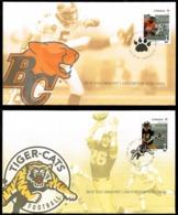 Canada 2012 100th Grey Cup Game American Football Sport 8 FDC - Omslagen Van De Eerste Dagen (FDC)
