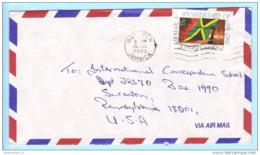 Jamaika Jamaica Jamaique Brief Cover Lettre 675 Unabhängigkeit Flagge (22990) - Jamaica (1962-...)