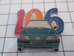 1019 Pin's Pins : BEAU ET RARE : Thème AUTOMOBILES / PEUGEOT 106 VERT BOUTEILLE Boire Ou Conduire !! - Peugeot