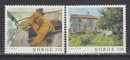 Norway 1987 - Painting, Mi-Nr. 979/80, MNH** - Norwegen
