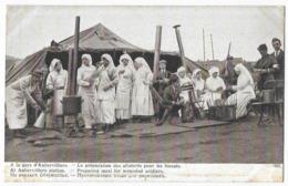 Guerre Européenne De 1914 A La Gare D' Aubervilliers La Préparation Pour Les Blessés - Guerre 1914-18