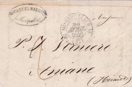 LAC De Monpellier (34) Pour Aniane (34) - 23 Avril 1840 - CAD Type 12 Gignac - TM 2 + Marque Linéaire 33 Aniane - 1801-1848: Precursori XIX