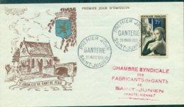 FRANCE N°1020 GANTERIE Fdc Thème Pont St Junien 1955 TB Tirage Numéroté . - FDC