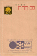Japan - 1970 A - Winter - Olympic Games 1972 - Stationery Cover - Still 400 Days - Inverno1972: Sapporo