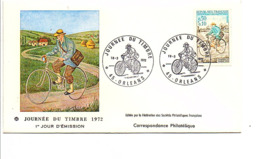 FDC 1972 JOURNEE DU TIMBRE - ORLEANS - FDC