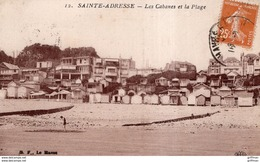 SAINT ADRESSE LES CABANES ET LA PLAGE TBE - Sainte Adresse