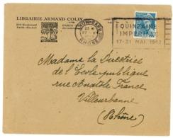 RHONE ENV 1942 LYON GARE PMEC LYO427 COTE 1994 = 250 FRANCS - Poststempel (Briefe)