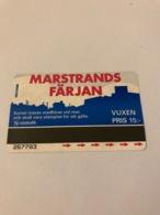 Sweden - Transport Card / Ticket For Ferry - Svezia