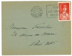 FUMEZ LES CIGARETTES CELTIQUES OMEC PARIS RP ENV 1941 - Poststempel (Briefe)