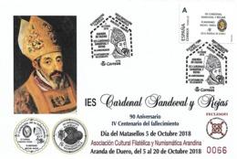 """Sobre Conmemorativo Exposición """"cardenal Sandoval Y Rojas"""" - España"""