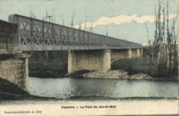 PAMIERS  Le Pont Du Jeu Du Mail Colorisée RV - Pamiers