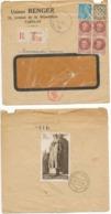 TARIF + CENSURE ENV 1944 PARIS EXPRES PETAIN => STRASBOURG ALSACE BAS RHIN - Marcophilie (Lettres)