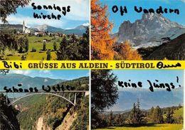 Italy Grusse Aus Aldein - Sudtirol Multiviews General View Bridge Kirche Church - Italie