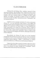 Documento Exposición Filatélica 900 Aniversario Muerte El Cid Campeador - España
