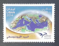 LIBAN 2014 ** NEUF - EUROMED POSTAL UPU Emission Commune Entre 11 Pays De La Mediterrannee. Quantite Tres Limite - Libanon