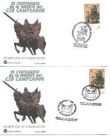 Sobres Conmemorativos Matsellos 900 Aniversario Muerte El Cid Campeador - España