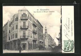 CPA Alexandrie, Rue Rosette Et Mosque Attarine - Egypte