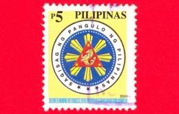 FILIPPINE - Usato - 2001 - Sigillo Presidenziale - Seal - 5 - Filippine