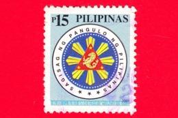 FILIPPINE - Usato - 2001 - Sigillo Presidenziale - Seal - 15 - Filippine