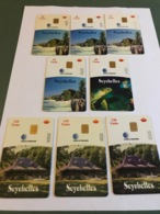 Seychelles - 8  Different Variants Chip Cards - Sychelles