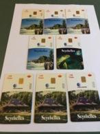 Seychelles - 8  Different Variants Chip Cards - Seychellen