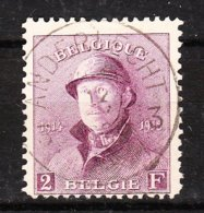 176  Roi Albert Casqué - LA Bonne Valeur - Oblit. Centrale ANDERLECHT 3 - LOOK!!!! - 1919-1920 Behelmter König