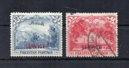 PAKISTAN - 1954 - 7° Anniversario Indipendenza - 2 Valori - Sovrastampati Service - Usati - (FDC18532) - Pakistan