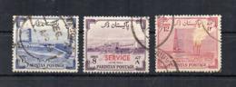 PAKISTAN - 1955 - 8° Anniversario Indipendenza - 3 Valori - 1 Sovrastampato Service - Usati - (FDC18533) - Pakistan
