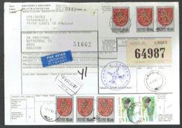 Bulletin D'expédition International - Lahti Finlande 1980 Vers Beho Belgique - Obl Lahti-Liège Entrepot - Finland