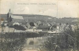 CPA 51 Marne Cumières Bords De Marne Avec L'Eglise - Pecheurs - Francia