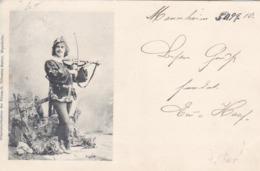 AK Musikant Mit Geige - Aufnahme G. Tillmann-Matter, Mannheim - 1899 (45154) - Muziek En Musicus