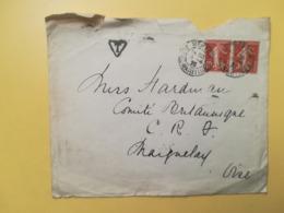 1920 BUSTA  FRANCIA FRANCE  BOLLO SEMINATRICE SEMEUSE ANNULLO MENTON OBLITERE' - Francia