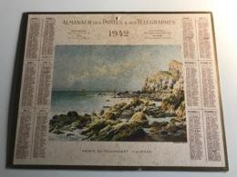 Calendrier Almanach Des Postes, Telegraphes Et Telephones AIN - 1942 - Pointe Du Toulinguet (Finistere) Aquarelle - Calendari