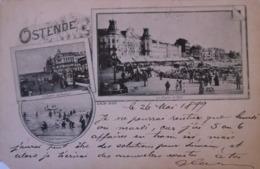 Oostende - Ostende // Fraaie Vroege Kaart 1899 Helaas Mist Hoekje - Oostende